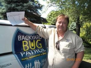 Tom, a Backyard Bug Patrol tech.