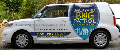 Image of a Backyard Bug Patrol truck.